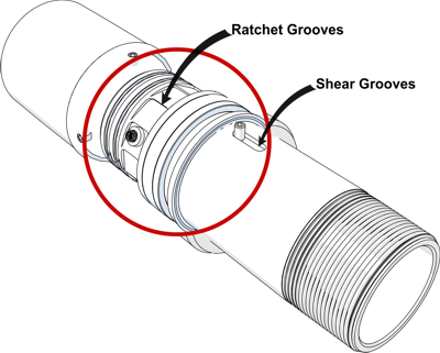 E-Swivel One Way ratchet detail