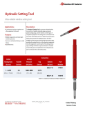 Hydraulic Setting Tool Technical Datasheet